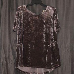 💜 Crushed velvet blouse 💜